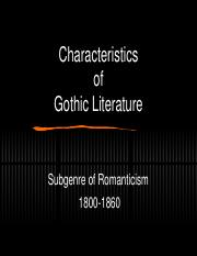Gothicism Notes.ppt