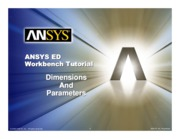 ANSYS 10.0 Workbench Tutorial - Exercise 2, Dimensions and Parameters