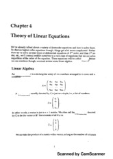 Chapter 4 - Theory of Linear Equations