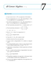 2B Linear Algebra Questions from Exercise Sheet 7