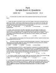 Park_Sample Exam 1 Questions