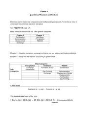 Quantities of Reactant and Product