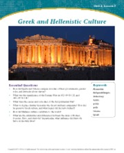 Greek and Hellenistic Culture