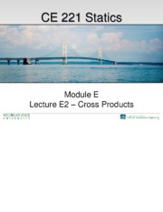 Lecture E2 – Cross Products
