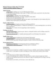 HRE Final Study Guide