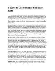 5 Ways to Use Unwanted Holiday Gifts.docx