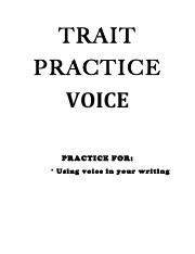 TRAIT practice - voice