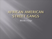 African-American Street Gangs - Bloods and Crips