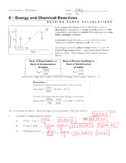 enthalpy calculations worksheet