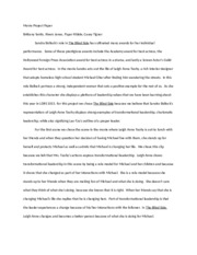 Sample Synthesis Essays Theblindsidepaper  Movie Project Paper Brittany Yantis Rivers Jones  Pyper Ribble Casey Tignor Sandra Bullocks Role In The Blind Side Has  Cultivated Essay On High School Dropouts also Essay On Importance Of Good Health Theblindsidepaper  Movie Project Paper Brittany Yantis Rivers  Buy Custom Essay Papers
