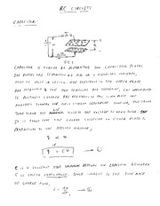 EE 3N03 RC Circuits Notes