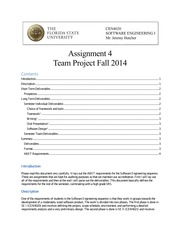 Team Project (Assignment 4 Specifications)