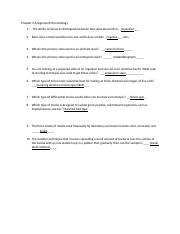 Chapter 2 Assignment Microbiology