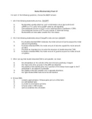 Dental Biochem 2006exam6