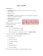 BIOL 273 - Lecture 4:Chest X­Ray/ECG