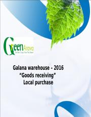 Galana warehouse - Goods receiving - local suppliers