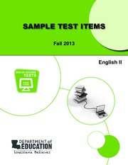 english-ii-sample-test-items