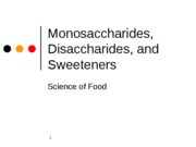 Monosaccharides, Disaccharides, and Sweeteners B-3