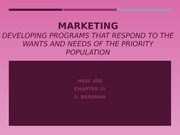 Chapter 11 Marketing