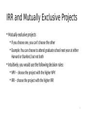 IRR and Mutually Exclusive Projects(1).pptx