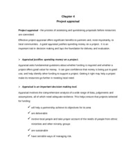 Chap.4 Project appraisal F