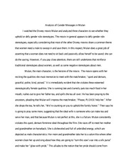 Writing Assignment Sample Fairytale Mulan Paper