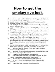 How to get the smokey eye look.docx