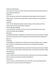 Infection control/ Diseases and disorders .docx
