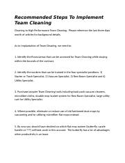 Implement Team Cleaning.docx