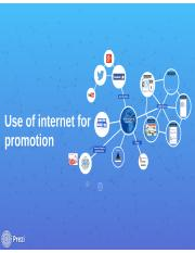 Use of internet for promotion  (seminar)