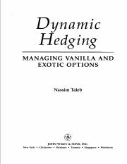 Dynamic Hedging-Managing Vanilla and Exotic Options, by NN Taleb.pdf