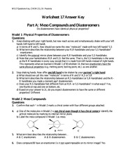 Meso Compounds and Disasteromers Worksheet