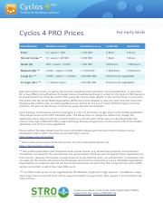 Cyclos_Price_list