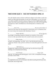 DNC 100 Take home quiz 4.docx