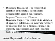powerpoint for disparate treatment