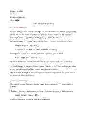 Le Chatelier's Principle Notes