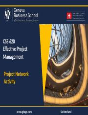 CSS 620 - Project Network Activity.pptx