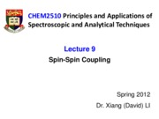 Lecture9_NMR_Spin Coupling_for student
