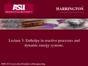 Lecture 5 enthalpy of reactive processes