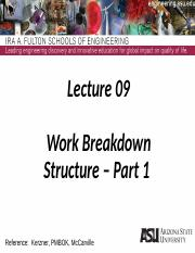 Lecture 09dm Work Breakdown Structure - Part 1