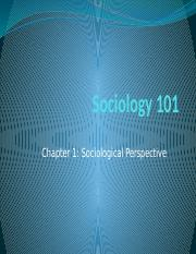 Sociology 101-chapter 1 & 2