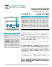 Finance accounting - Annual report analyses -Tokyo Draft Report - Sample report 2.pdf