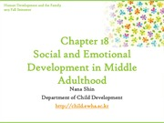 Chapter18. Social and Emotional Development in Middle Adulthood(cyber)