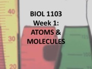 Week 01 Atoms molecules colour