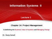 1-IS II GUC 2009 2010 spring- lecture 1