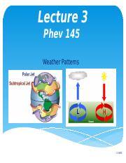 Lecture 3 Weather Patterns