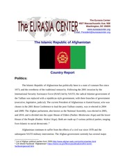 AfghanistanCountryReport