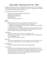 ENG 181 WI10 Final Exam Study Guide