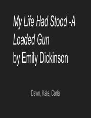my life has stood a loaded gun