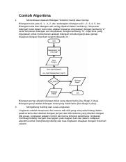 Menghitung Keliling Dan Luas Lingkaran Docx Contoh Algoritma 1